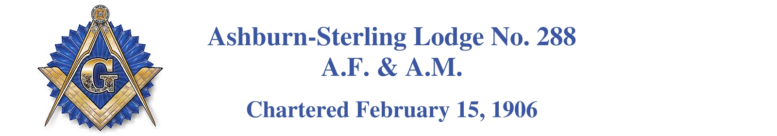 Ashburn-Sterling Lodge No. 288  Ashburn Virginia